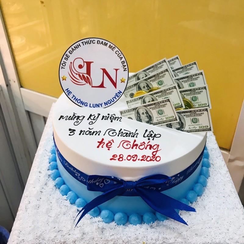 Xấp 20 tờ tiền đô nhỏ 7cm mô hình trang trí bánh sinh nhật