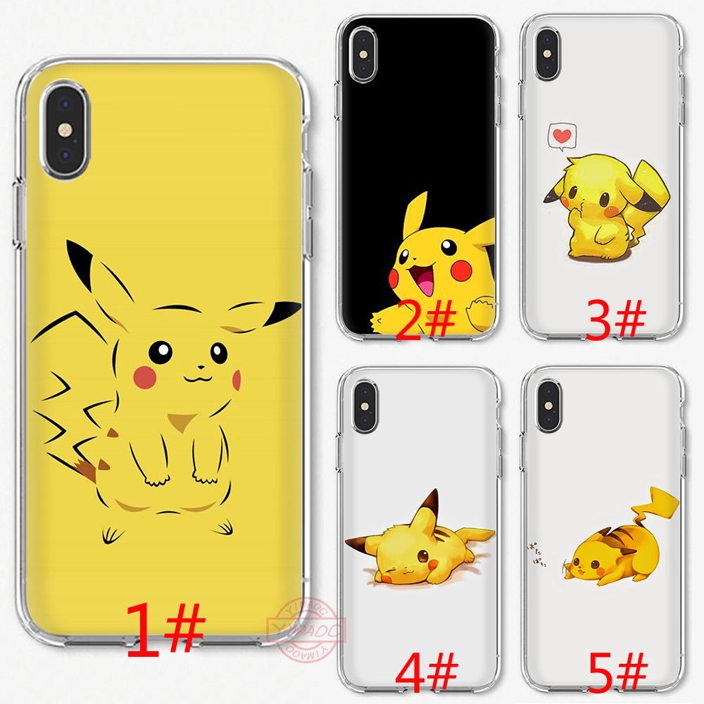 16F Anime Pikachu Soft Silicone Case iPhone XS Max XR X 8 7 6S 6 Plus 5 5S SE TPU Cover