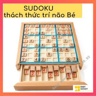 Sudoku [GỖ CAO CẤP] Đồ chơi gỗ rèn luyện trí não bé