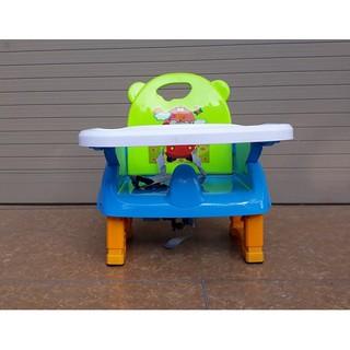 Ghế ăn dặm nhựa Cao cấp (Có dây bảo hiểm + bàn ăn dặm) thumbnail