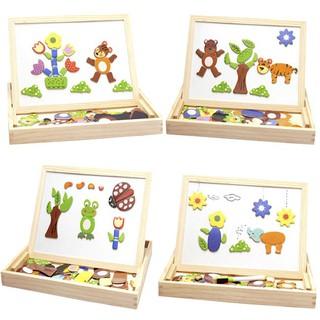 Bộ ghép hình nam châm bằng gỗ cho bé phát triển tư duy Đồ chơi giải trí giúp bé phát triển tư duy vừa học vừa chơi
