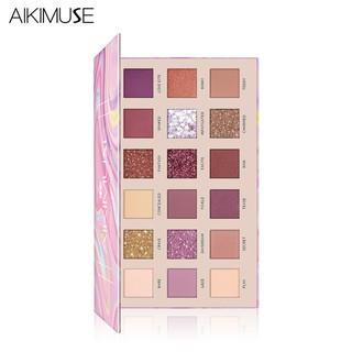 Bảng phấn mắt AIKIMUSE gồm 18 màu nude nhũ lì thời trang 180g thumbnail