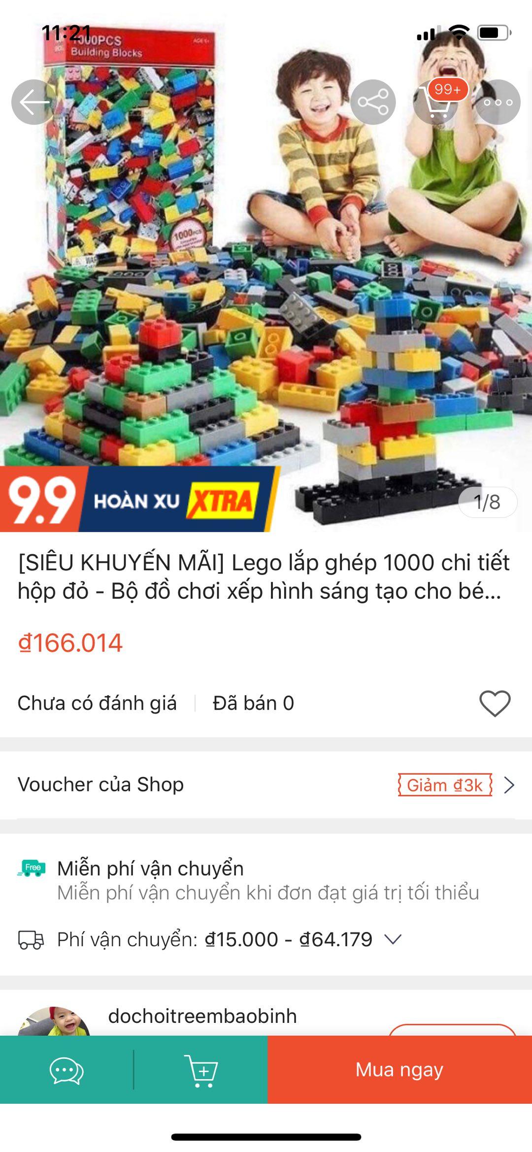 SIÊU KHUYẾN MÃI] Lego lắp ghép 1000 chi tiết hộp đỏ - Bộ đồ chơi xếp hình  sáng tạo cho bé trai và bé gái mẫu mới