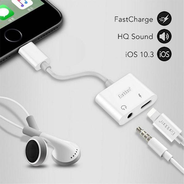 Cáp chuyển đổi tai nghe kiêm cáp sạc cho iPhone 7/8/X