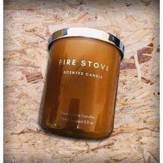 Nến thơm xuất khẩu Fire Stove tông gỗ, ấm – 70 giờ đốt