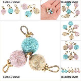 Coagulatepower 6pcs/set 1:12 Dollhouse Miniature Christmas Ball Xmas Trees Hangings Ornaments