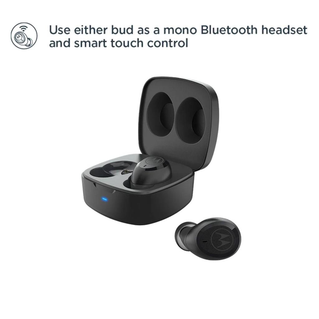 Motorola VerveBuds 100 TWS - Tai nghe Bluetooth V5.0- Touch control - Chống nước IPX5