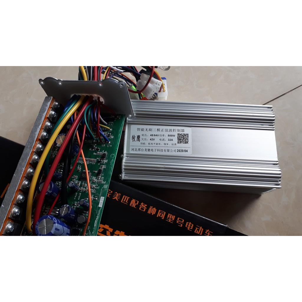điều tốc ic xe điện 500w 48v-64v 12 sò ( chạy êm )