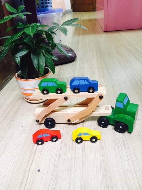 Ô tô gỗ 2 tầng