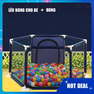 Lều bóng, Nhà bóng khung inox siêu bền giành cho bé, bé thoải mái chơi tại nhà, tặng kèm bóng