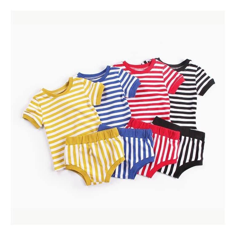 Bộ đồ sọc bé gái -bé trai - có 4 màu sọc lựa chọn [Quần áo trẻ em