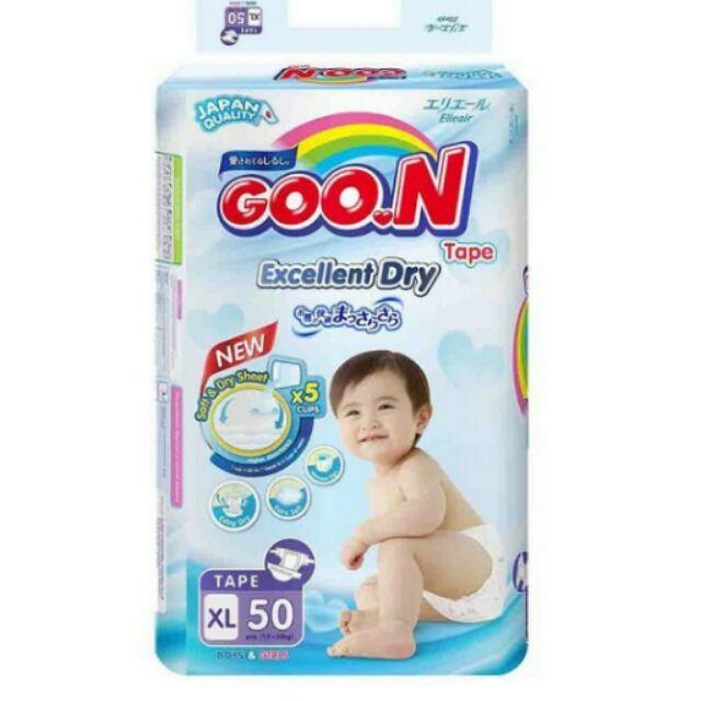 Bỉm Dán Goon Thái Renew Slim XL50