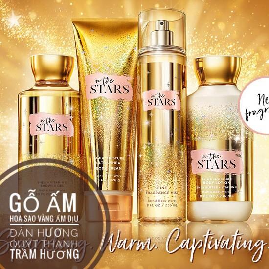 ✨ In The Stars | Bộ Sản Phẩm Gel Tắm - Dưỡng Thể - Xịt Thơm Mịn Da Lưu Hương Toàn Thân Bath & Body Works