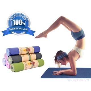 Thảm tập yoga 6MM xịn kèm túi đựng thảm