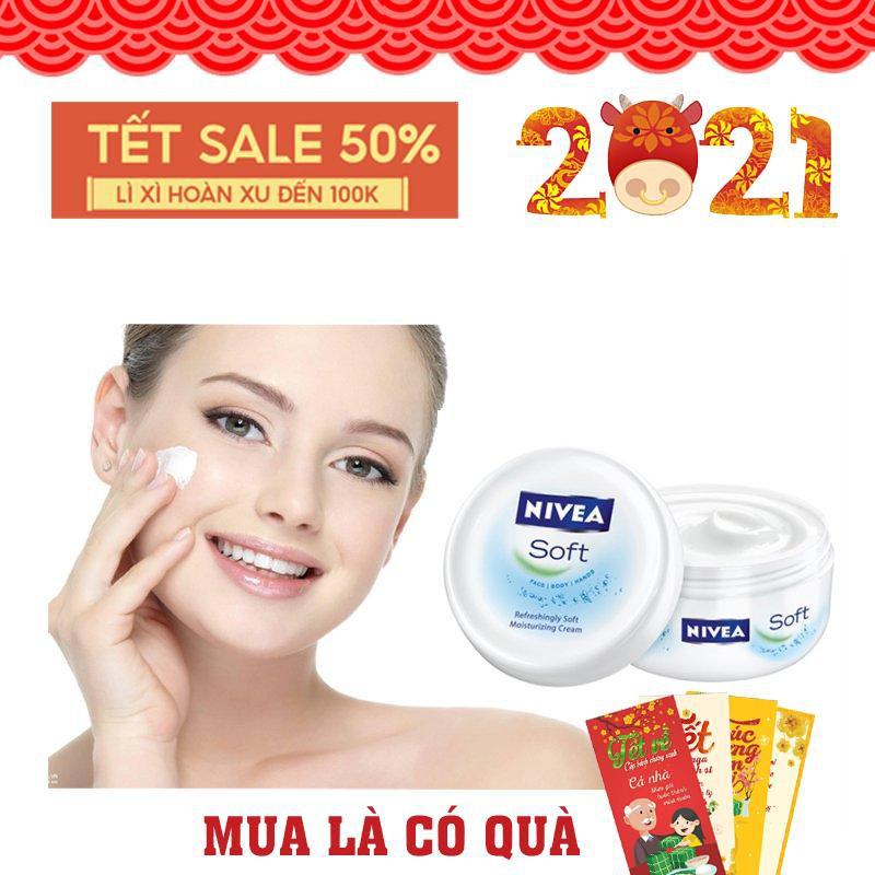 Kem Nẻ dưỡng ẩm Nivea Soft 200ml - dưỡng ẩm chuyên sâu,chống nẻ và làm trắng mịn da [ Chính Hãng