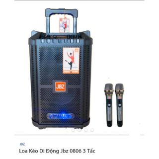 Loa kéo JBZ 0806 giá siêu vip cho khách…1 bộ gồm.; 1loa và 2 micro không dây…vừa đẹp vừa hay giá lại rẻ.shop Huy Hân