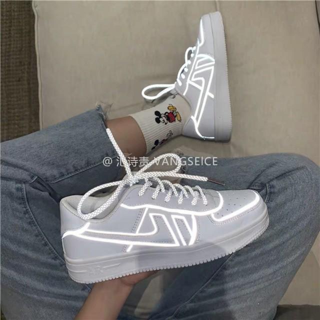 [ORDER 5-7 NGàY] giày dáng air force phản quang nam nữ