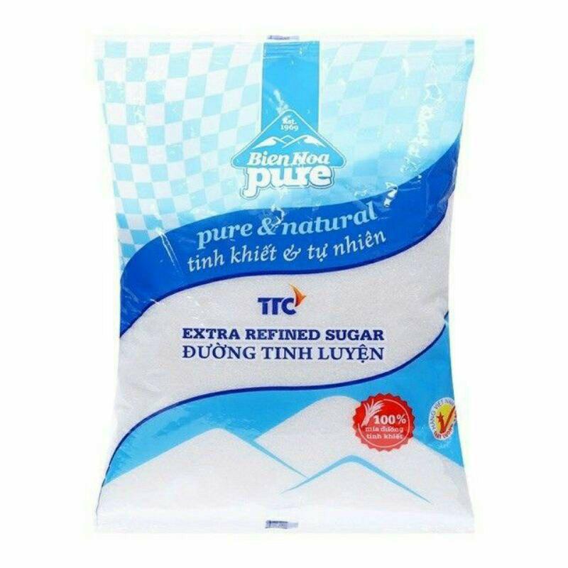 Đường cát trắng - đường Biên Hòa Pure bịch 1kg - đường pure