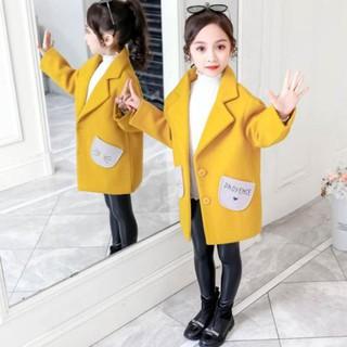 HOT Áo Khoác Dạ Bé Gái Trần Bông Cao Cấp – Áo Khoác Trẻ Em Mùa Đông 2021 hàng Quảng Châu