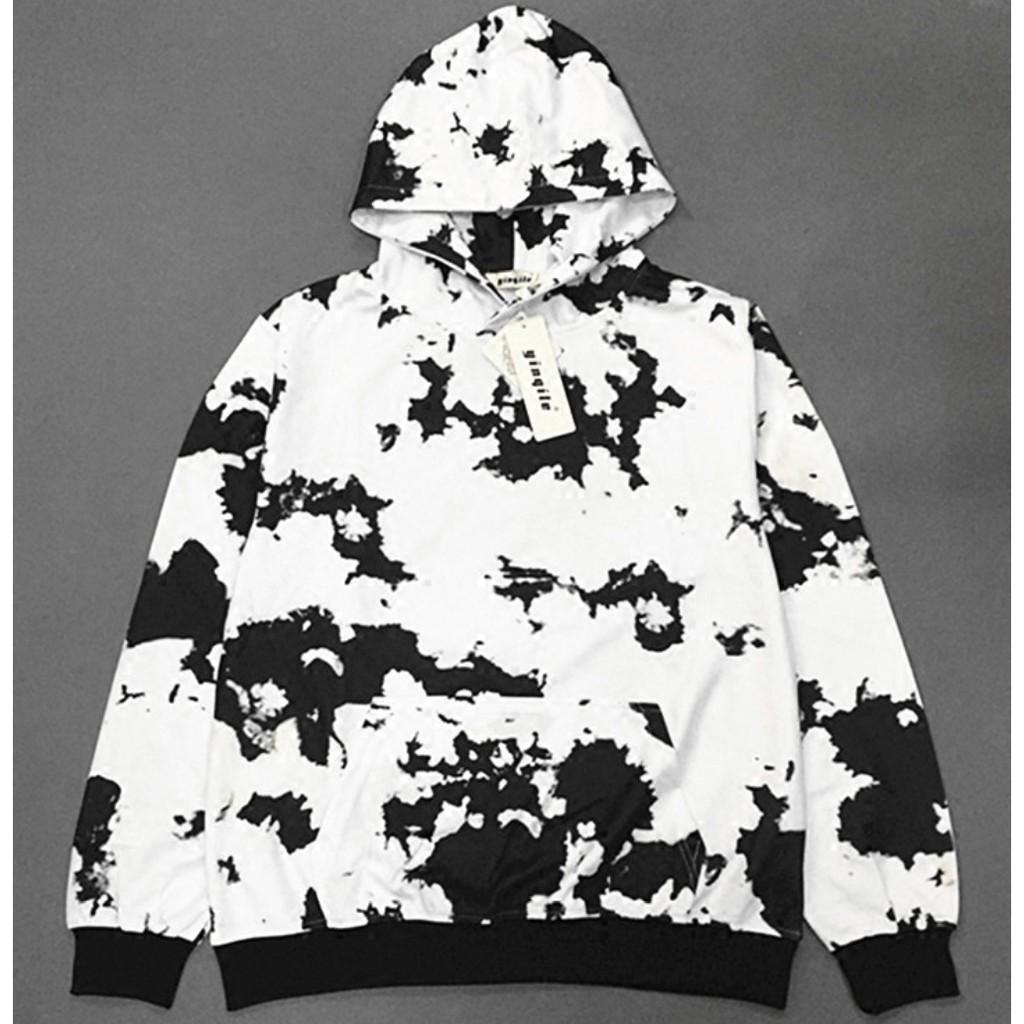 Áo hoodie đốm đen trắng