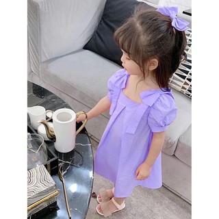Đầm bé gái [CỰC XINH] Đầm nơ vai cho bé từ 17 - 38kg
