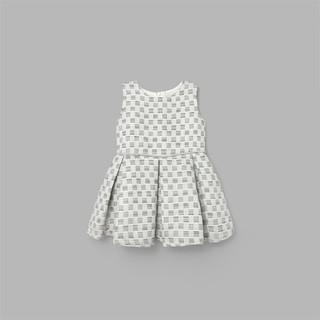 Đầm váy xòe BAA BABY trắng xanh ánh kim cho bé gái - G-AD06C-004XN thumbnail