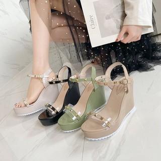 (S119) Sandal nữ quai đinh đế xuồng 10 phân (Mã 9876-sandal đinh)