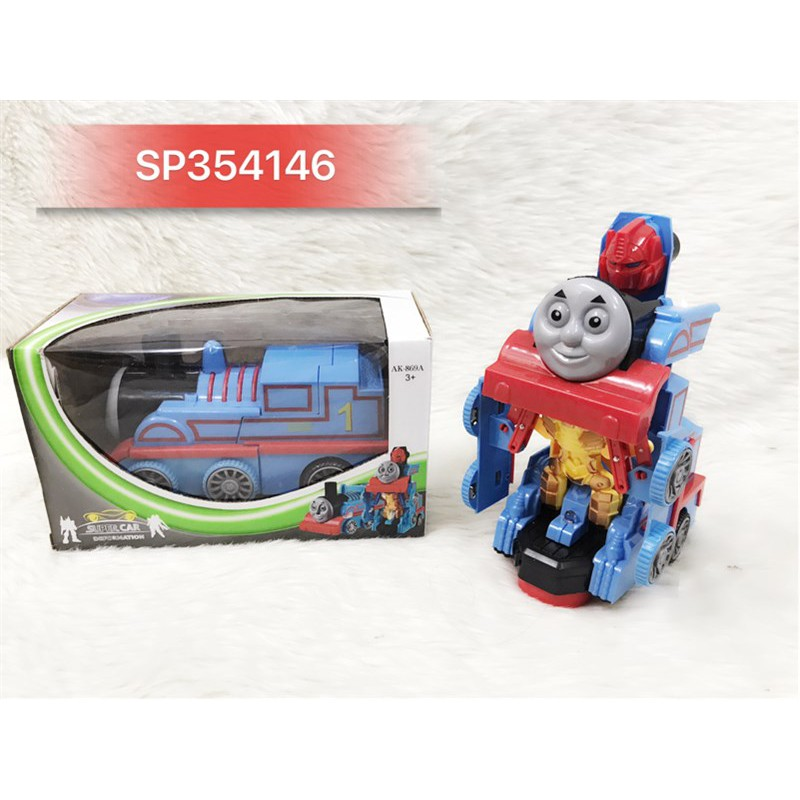 Hộp xe lửa thomas pin đèn biến hình robo, AK869A (Hộp)