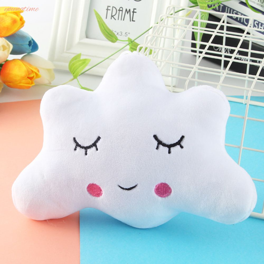 youngtime New Moon Star Cloud Shape Emoticon Short Plush Blankets Plaid Pillow Nap Pillow Cute Dolls Pendant Girl Gift youngtime