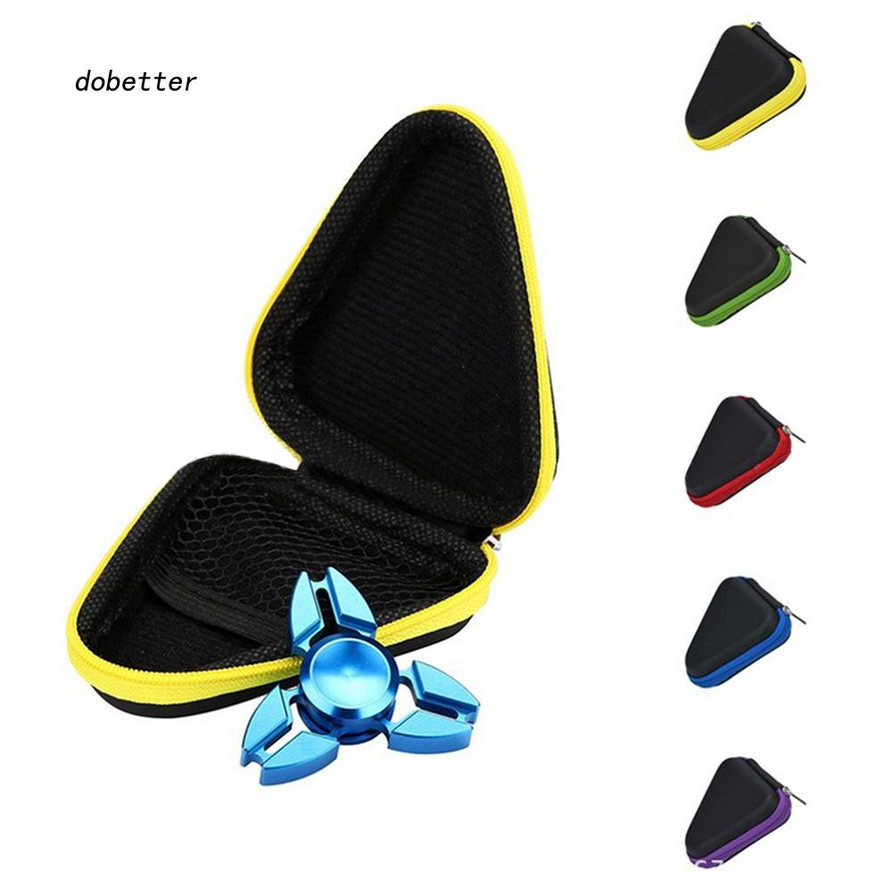 DOBT_Portable Round Triangle Hard Storage Case Gift Box for Fidget Hand Spinner Toy