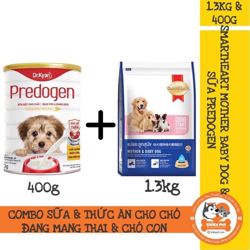 Combo Sữa Predogen&Thức Ăn Smartheart Mother&Baby Dog Cho Chó Đang Mang Thai&Chó Con