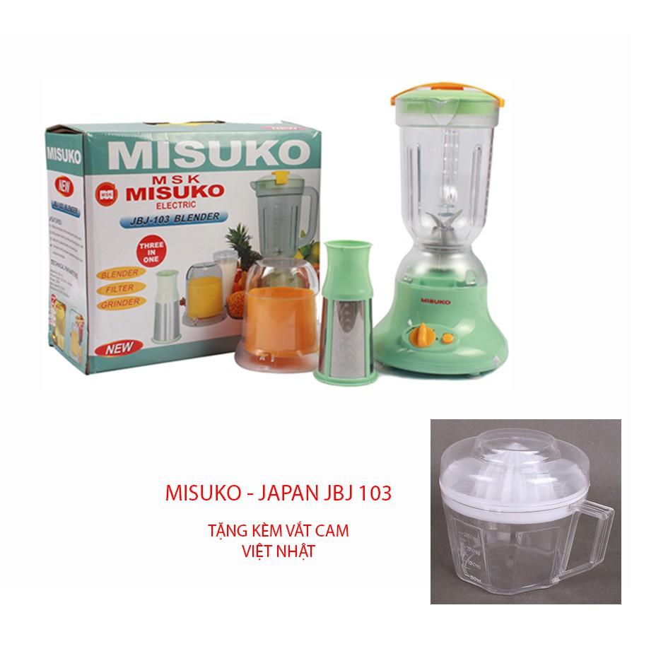Máy xay sinh tố 2 cối Misuko - JAPAN JBJ 103 + Tặng vắt cam