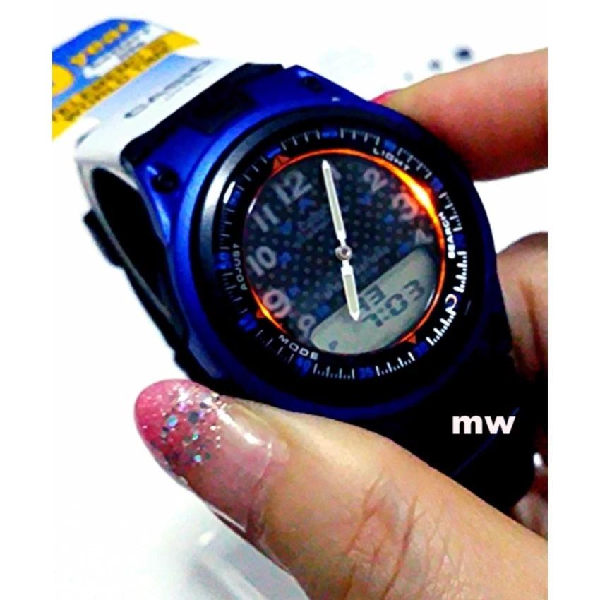 Đồng hồ nam dây nhựa Casio chính hãng Anh Khuê AW-80-2BVDF