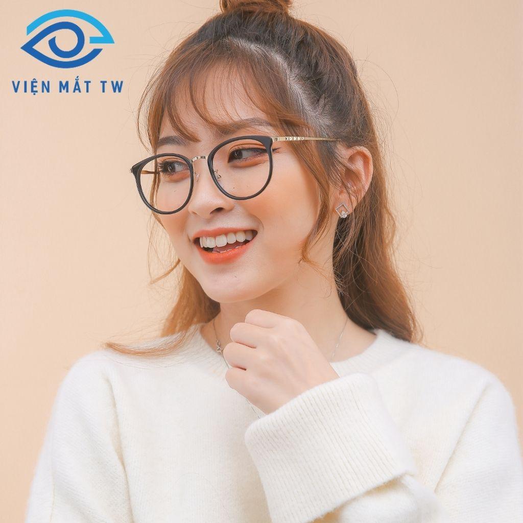 Gọng kính cận mắt tròn LUXURY9228 - Vienmattw1.Official + Nhận cắt CẬN VIỄN LOẠN chất lượng cao