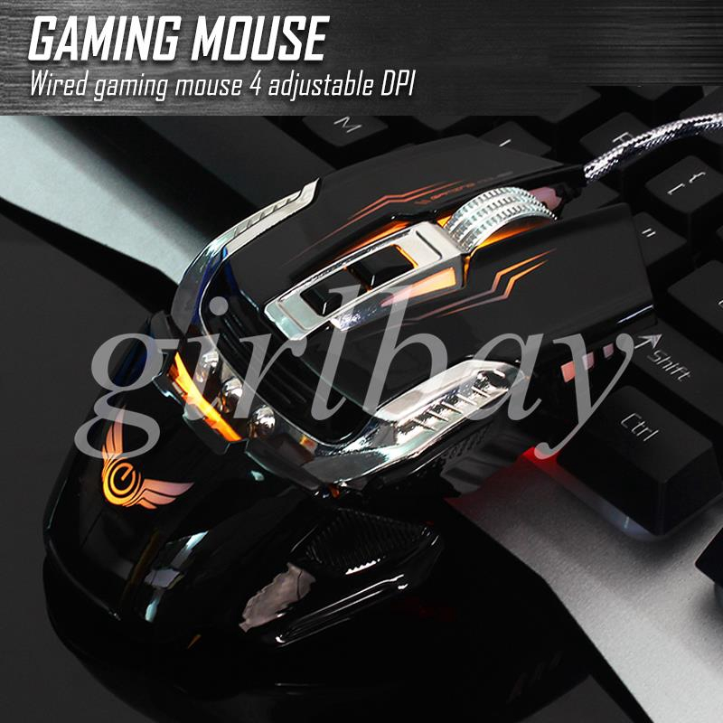 King Optical Mice USB Wired Mouse Internet Cafe PC Portable Premium 7 Keys