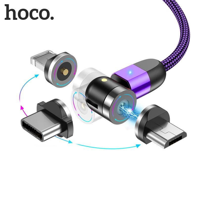 Dây Cáp Sạc / Đầu Nam Châm hoco.CB1 chuẩn Micro USB/ iphone / Type-C Xoay 540°