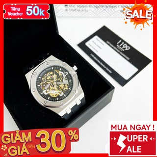 [QUÀ TẶNG] Đồng hồ cơ - Đồng Hồ Dây Cao Su Nam 42mm Fom Size Chuẩn Chống Nước Chống Xước Tốt 265TR - 1199 Watches
