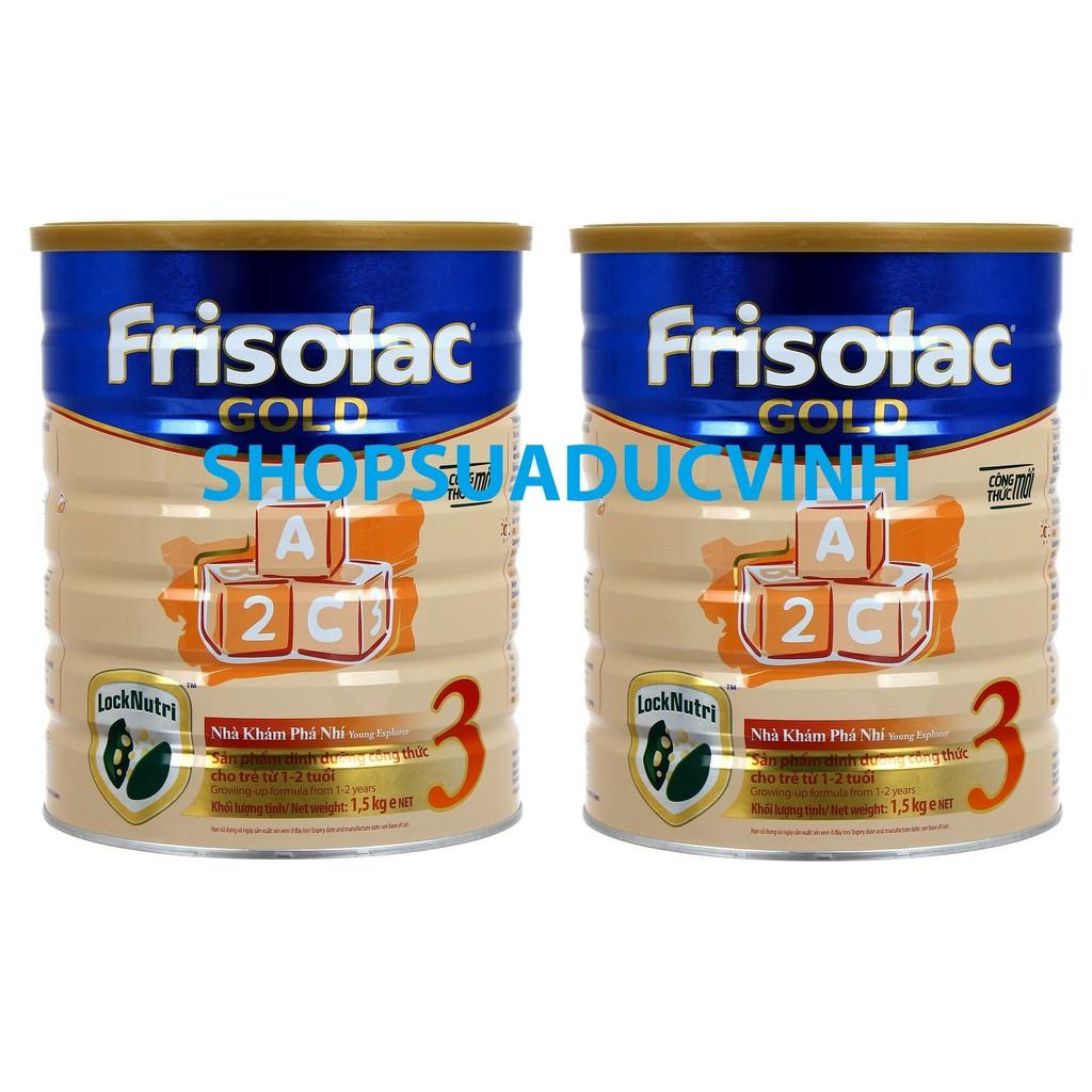 Combo 2 hộp Sữa bột Friso Gold 3 (1.5kg) Công thức LOCKNUTRI