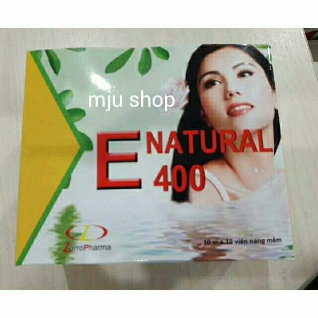 Vitamin E natural 400 (hộp 100 viên) - 2924114 , 572093637 , 322_572093637 , 89000 , Vitamin-E-natural-400-hop-100-vien-322_572093637 , shopee.vn , Vitamin E natural 400 (hộp 100 viên)