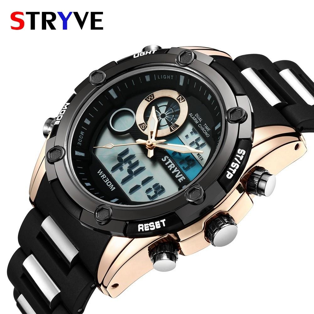 Đồng hồ điện tử thời trang nam thể thao dây thép - phong cách sành điệu STRYVE PKHRSTY001