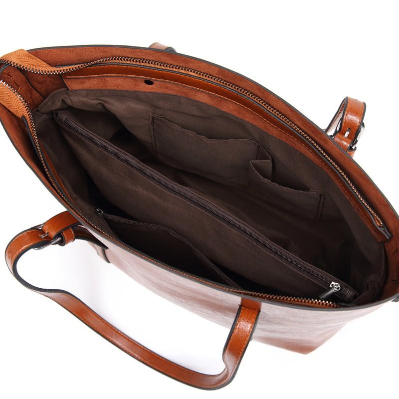 [TẶNG VÍ 48K] Túi xách TOTE TO da mềm, dày dặn đựng vừa A4, Laptop size 32 cm