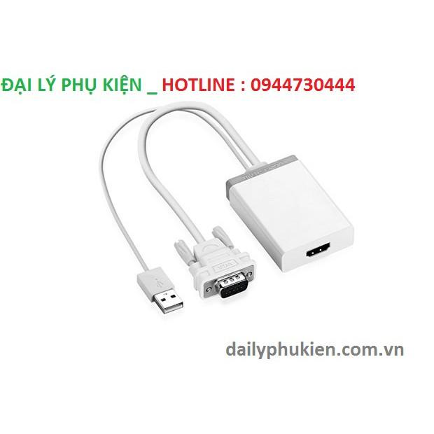 Cáp chuyển đổi VGA to HDMI + Audio UGREEN 40235
