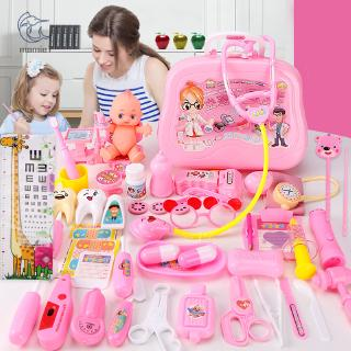 1 Set Kids Doctor Sets Toy Role Play Stethoscope for Children Boy Girls Pretend Kit