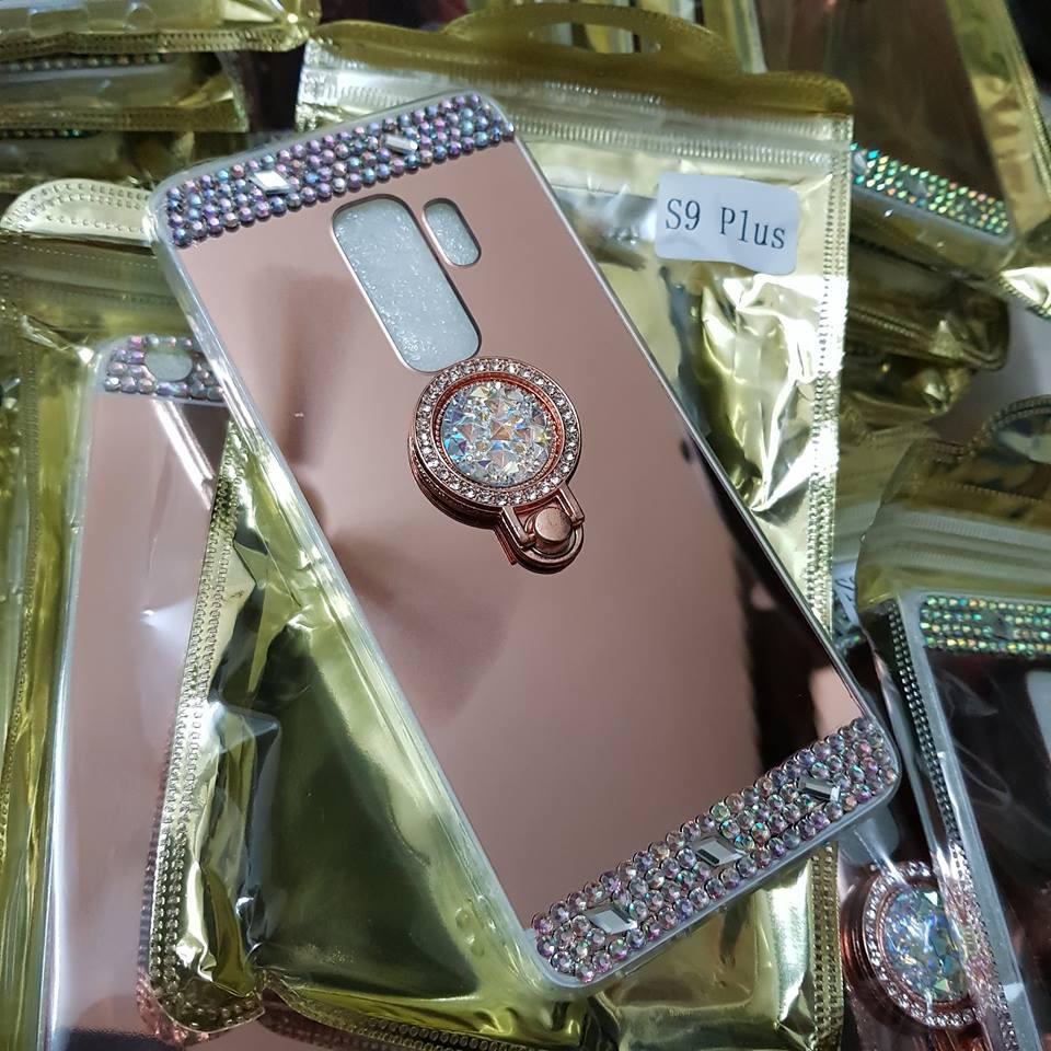 Ốp lưng Galaxy S9 Plus tráng gương đính đá kiêm giá đỡ điện thoại (GƯƠNG ĐỠ) - 2402124 , 1289022150 , 322_1289022150 , 120000 , Op-lung-Galaxy-S9-Plus-trang-guong-dinh-da-kiem-gia-do-dien-thoai-GUONG-DO-322_1289022150 , shopee.vn , Ốp lưng Galaxy S9 Plus tráng gương đính đá kiêm giá đỡ điện thoại (GƯƠNG ĐỠ)