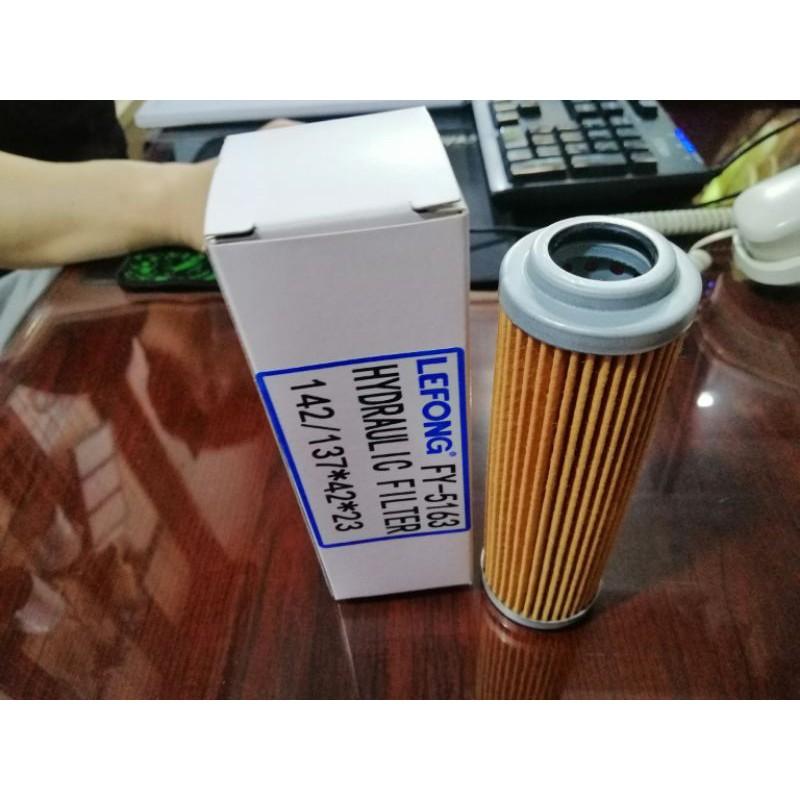 FY-5163 lọc dầu thủy lực hộp số Dawoo lỗ 23 đường kính 42 cao 137/142