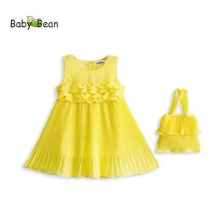 Đầm Voan Dập Ly Kết Hoa bé gái BabyBean (kèm Túi cùng Màu)
