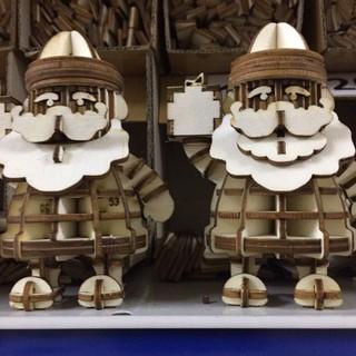 Mô hình ghép gỗ ông già tuyết, đồ chơi lắp ghép Thông mình