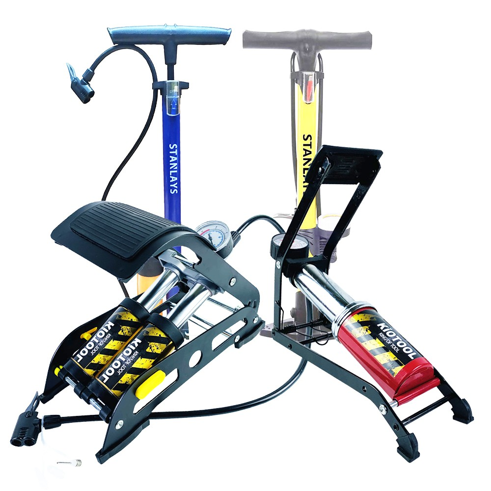Bơm hơi xe máy mini - Bơm xe máy đạp chân loại tốt -Bảo hành 6 tháng 1 đổi 1 stanley