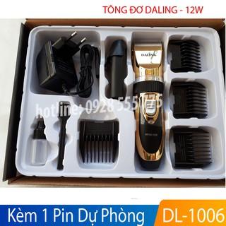 Tông đơ cắt tóc Daling 1006 công suất 12W kèm pin dự phòng, máy cắt tóc hớt tóc