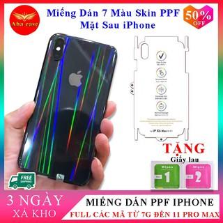 [Free Ship] Miếng dán Skin PPF 7 màu mặt sau cho các dòng iphone 7, 7plus, 8, 8plus, X, Xs, Xsmax, 11, 11 pro,11 pro max